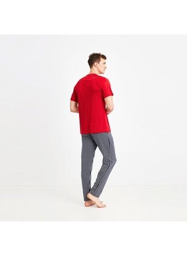 Nautica M138PJTK.KIR Nautıca Erkek Kırmızı Pijama Takımı Kırmızı